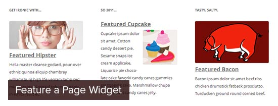 Feature a Page Widget