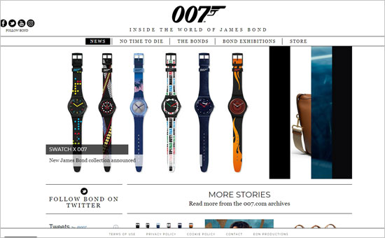 The Official James Bond Website