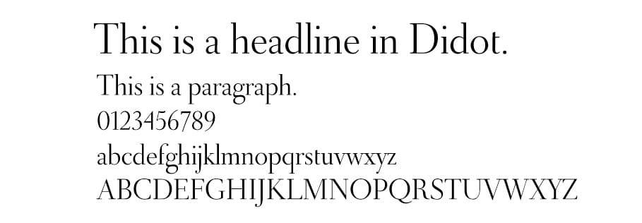 didot font