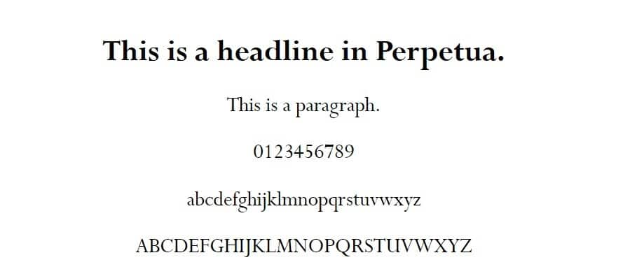 perpetua font