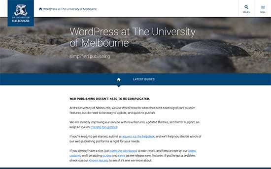 استفاده از وردپرس در دانشگاه ملبورن