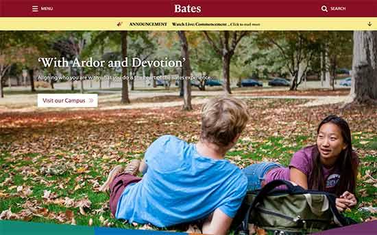 استفاده از وردپرس در کالج Bates