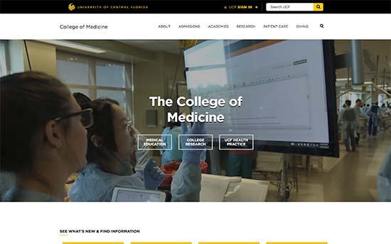 استفاده از وردپرس در دانشگاه پزشکی UCF
