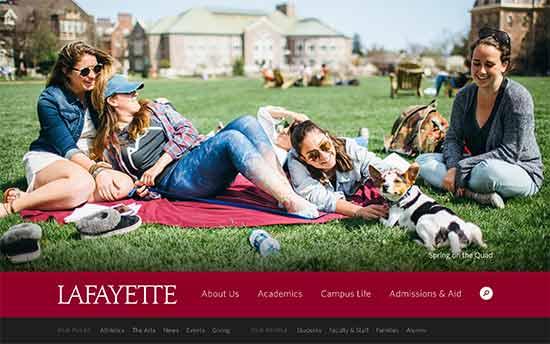 استفاده از وردپرس در کالج Lafayette