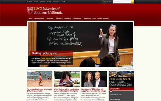 استفاده از وردپرس در دانشگاه  Southern California
