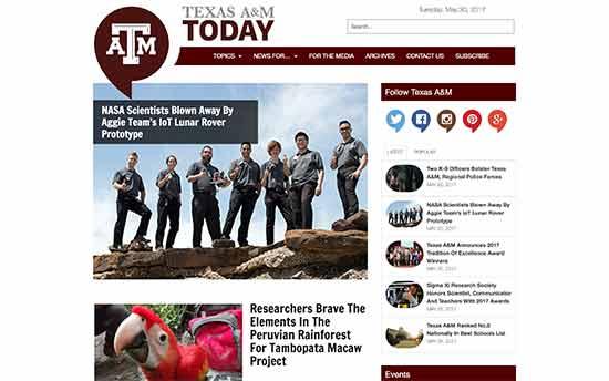 استفاده از وردپرس در دانشگاه  A&M تگزاس
