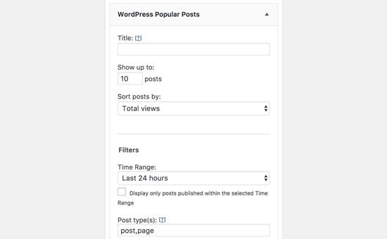 WordPress Popular Posts Widget