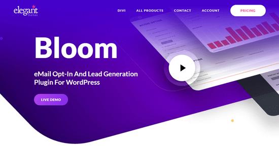 The Bloom plugin on Elegant Themes' website