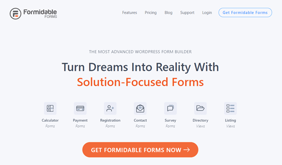 The Formidable Forms website