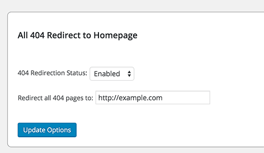 All 404 redirect to home page