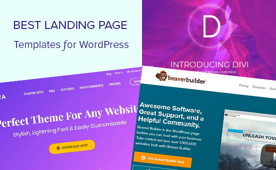 Best landng page templates for WordPress