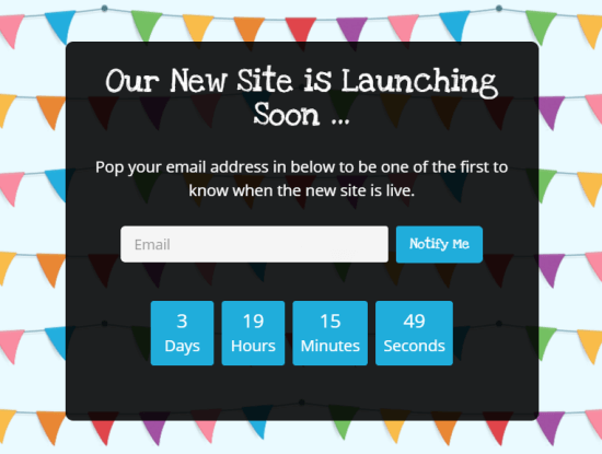 An example of a countdown timer created with SeedProd