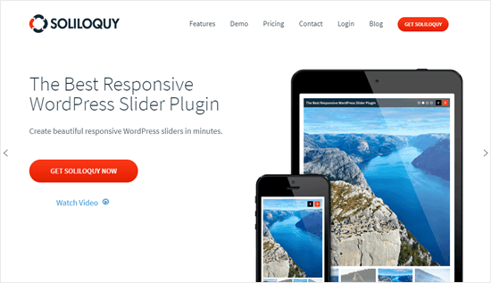 The Soliloquy website