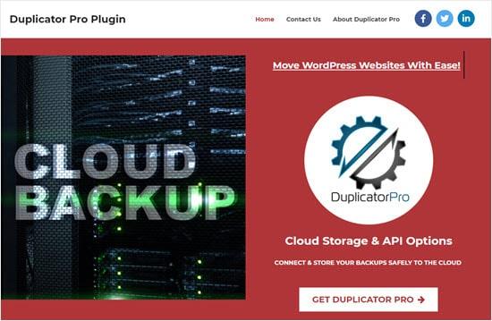 The Duplicator pro plugin for WordPress