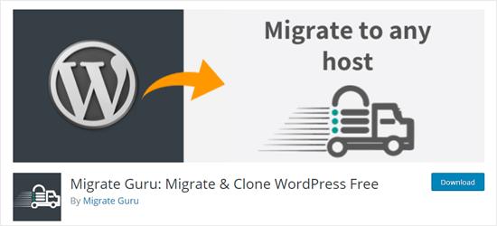 The Migrate Guru plugin for WordPress