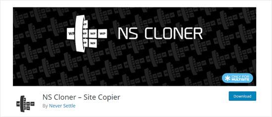 The NS Cloner plugin for WordPress