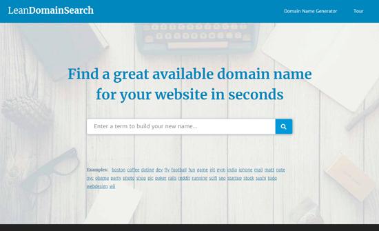 Lean Domain Search - Blog Domain Name Generator