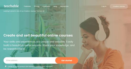 The Teachable website