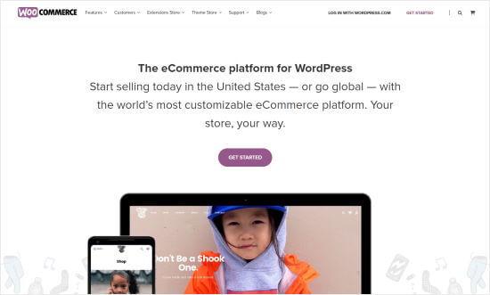 The WooCommerce website