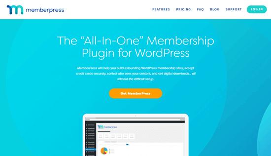The MemberPress website