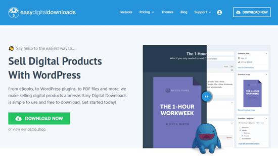 The Easy Digital Downloads website