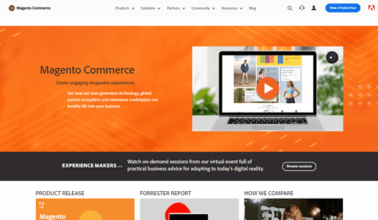 The Magento website