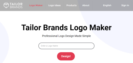 Tailor Brands' logo maker