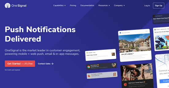 The OneSignal website