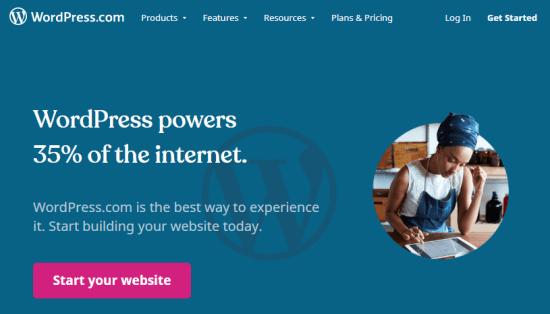 The WordPress.com website builder