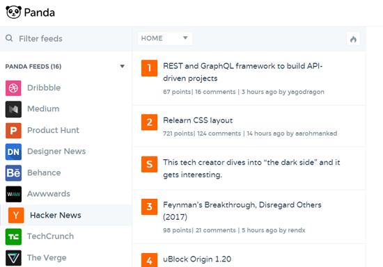 Panda Content Aggregator Website