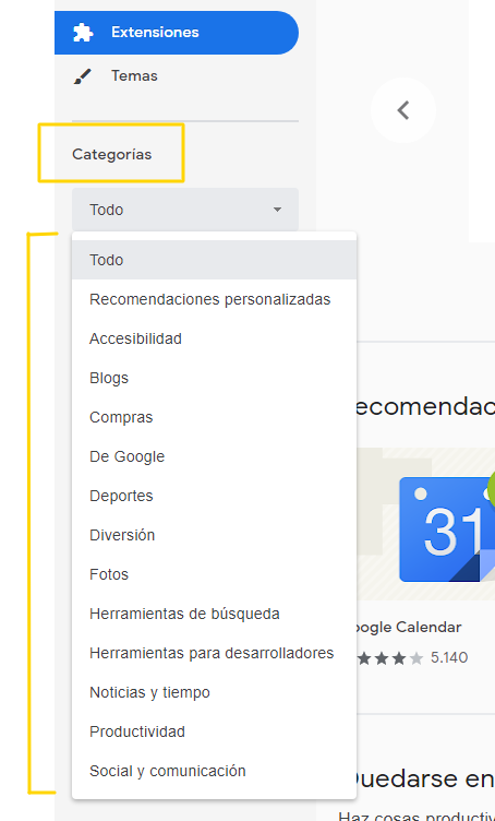 categorias-chrome-web-store