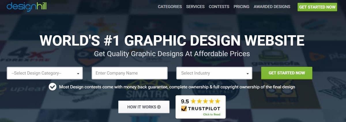 Лучшие Сайты для Фриланса - Снимок из Сайта Designhill
