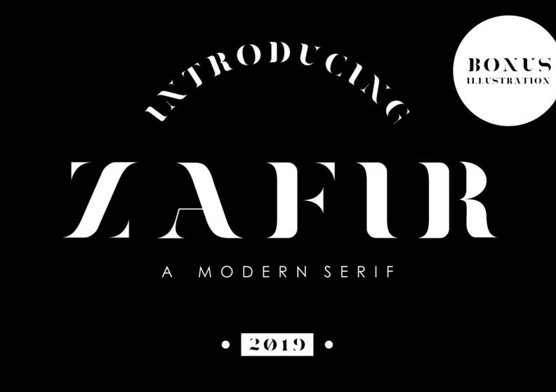 Modern fonts: zafir