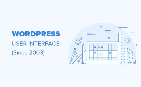 Evolution of WordPress user interface since 2003