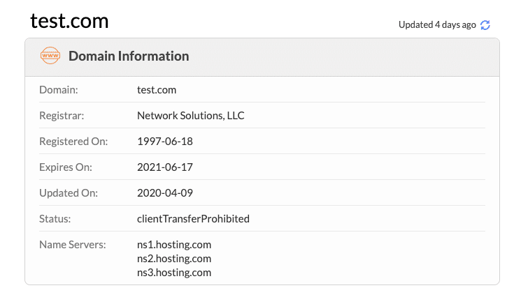 Check which nameserver your website is using with Whois.