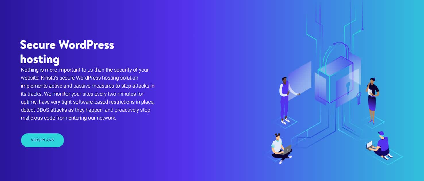 Kinsta secure hosting
