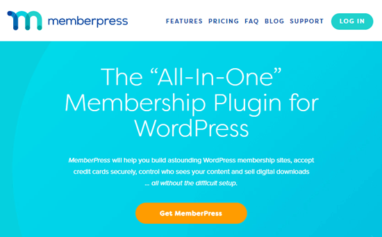 The MemberPress deal's front page