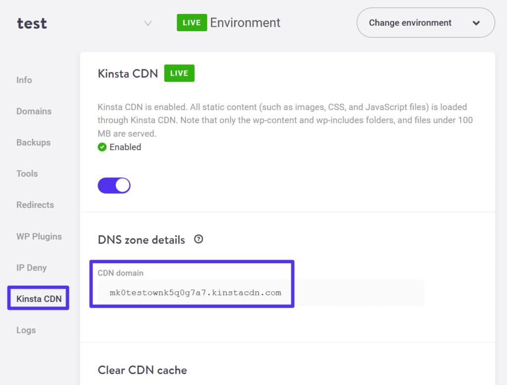 How to find Kinsta CDN URL