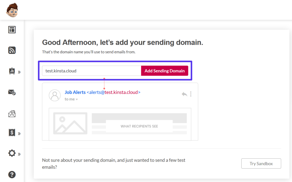 Free smtp server: Add domain to Pepipost