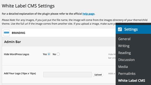 Adding custom dashboard logo in WordPress using White Label CMS plugin