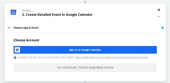ورود به حساب google calendar