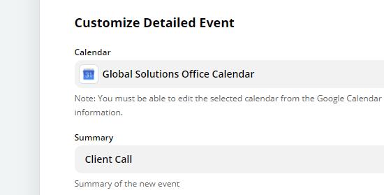 خلاصه ای برای رویداد در Google Calendar بنویسید