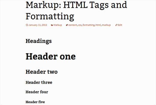 Dummy content needed for theme development in WordPress