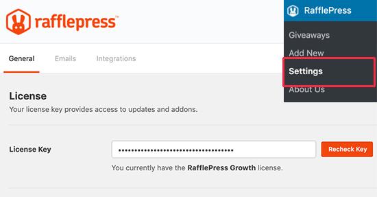 RafflePress license key