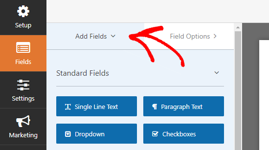 Adding new fields to your volunteer form