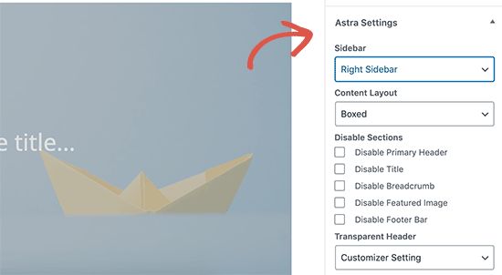 Astra theme single post template customization