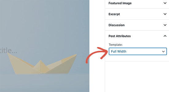 Choosing a template when writing a single post