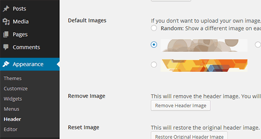 Changing theme header in your WordPress Child Theme