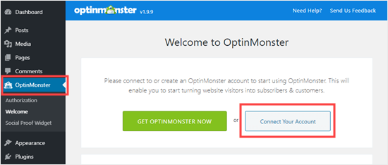 Connect your WordPress site to your OptinMonster account