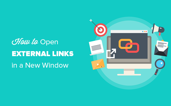 How to open external links in a new window